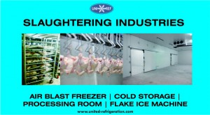 Slaughtering Industries United Refrigeration blue